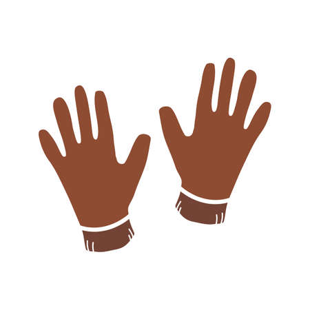 Gloves glyph color icon. Worker protective clothes. Silhouette symbol on white background with no outline. Negative space. Vector illustration