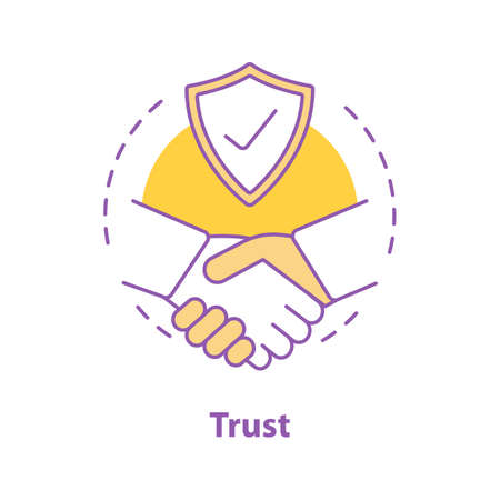 Partnership concept icon. Business deal idea thin line illustration. Trust. Agreement. Vector isolated outline drawing