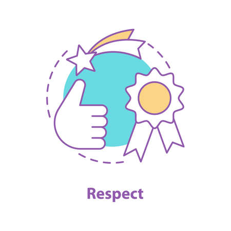Respect concept icon. Quality idea thin line illustration. Achievement. Best choice. Vector isolated outline drawing Illustration