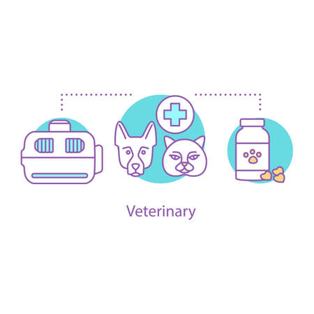 Veterinary concept icon. Animal pharmacy and clinic idea.