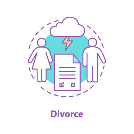 Divorce concept icon.