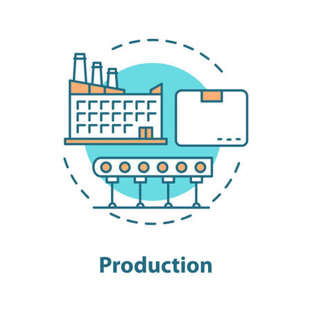 Production concept icon. Manufacturing.
