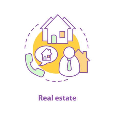 Real estate concept icon. Brokerage.