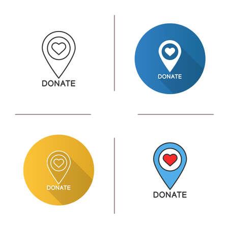 Charity organization location icon. Ilustracje wektorowe
