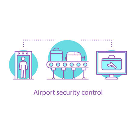 Airport security control concept icon.