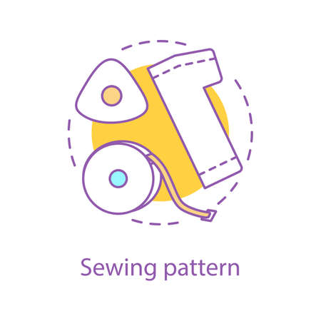 Sewing pattern creation concept icon.