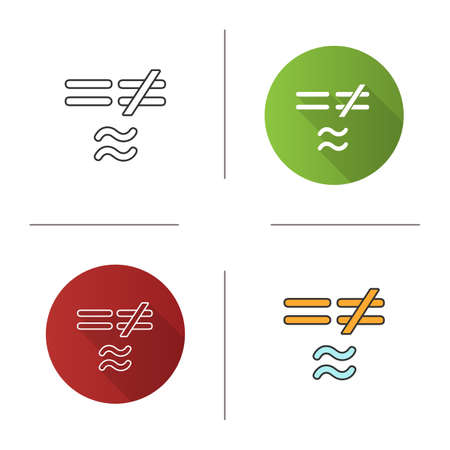 Math Symbols Icon Equals Is Not And Approximately Equal To