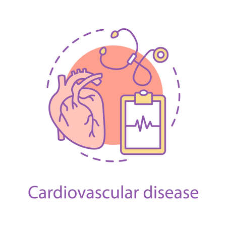 Cardiovascular disease concept icon. Cardiology idea thin line illustration. Healthcare. Vector isolated outline drawing