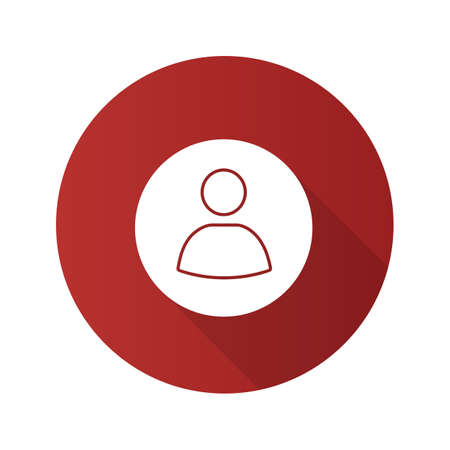 User account circle flat design long shadow glyph icon. User profile picture. Userpic. Vector silhouette illustration