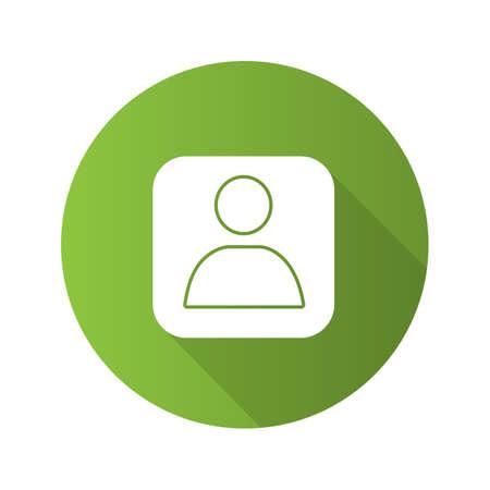 Icône de glyphe grandissime design plat boîte compte utilisateur. Profil. Illustration de silhouette de vecteur
