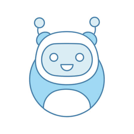 Chatbot color icon. Modern robot. Talkbot. Online helper. Virtual assistant. Digital service support. Isolated vector illustration