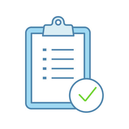 Task planning color icon. To do list. Project management. Tasks list. Checklist. Test, exam. Isolated vector illustration