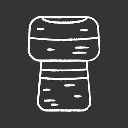 Wine cork chalk icon. Champagne cork. Isolated vector chalkboard illustration Illustration