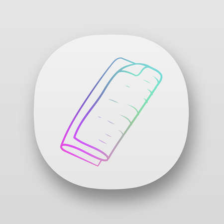 Cloth napkins app icon. Reusable, sustainable, organic, eco textile. Eco friendly cleaning utensil. Dinner tissue. UI/UX user interface. Web or mobile applications. Vector isolated illustration Stock Illustratie