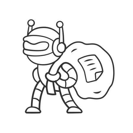 Scraper Bot Linear Icon  Malicious Bad Robot  Content