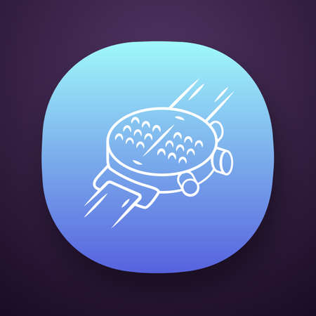 Braille smartwatch app icon. Dot watch, wrist tactile smartwatch. Blind person gadgets, technology innovation. UIUX user interface. Web or mobile application. Vector isolated illustration