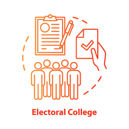 Elections concept icon. Electoral college idea thin line illustration. Voting, choosing from political candidates, parties. Electorate. Vector isolated outline drawing. Editable stroke
