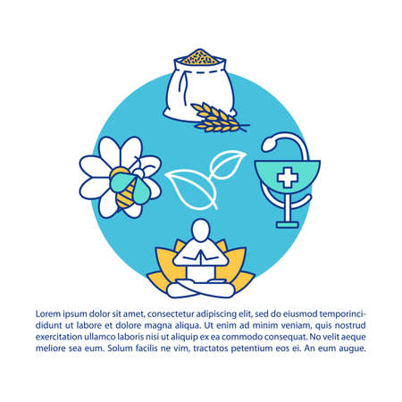 Ecosystem services article page vector template. Provisioning. Brochure, magazine, booklet design element with linear icons and text boxes. Print design. Concept illustrations with text space