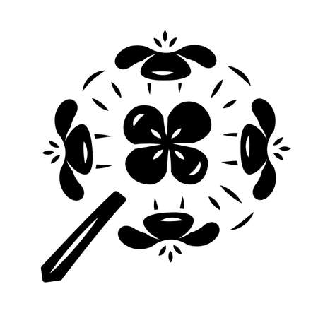 Franciscan wallflower glyph icon. Garden flowering plant. Erysimum franciscanum. Blooming wildflower, weed. Spring blossom. Silhouette symbol. Negative space. Vector isolated illustration