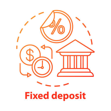Savings concept icon. Fixed deposit idea thin line illustration. Creating investment account. Getting bigger profits, interest until maturity date. Vector isolated outline drawing