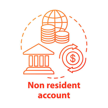 Savings concept icon. Non resident account idea thin line illustration. Banking plan, agreement for foreigners. Keeping savings abroad. Vector isolated outline drawing