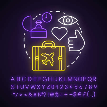 Millennials neon light concept icon. Age group idea. Digital technology involvement. Travelling. Echo boomers. Glowing sign with alphabet, numbers and symbols. Vector isolated illustration