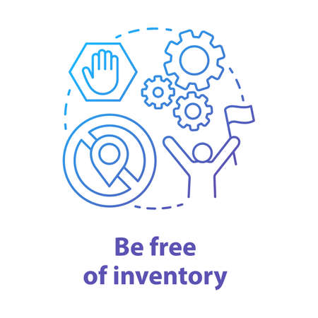 Be free of inventory blue concept icon. Supply chain management model idea thin line illustration. Ecommerce store, order delivery. Dropshipping service. Vector isolated outline drawing
