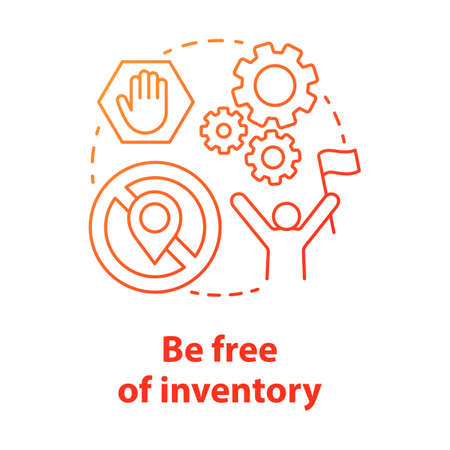 Be free of inventory red concept icon. Supply chain management model idea thin line illustration. Ecommerce store, order direct delivery. Dropshipping service. Vector isolated outline drawing