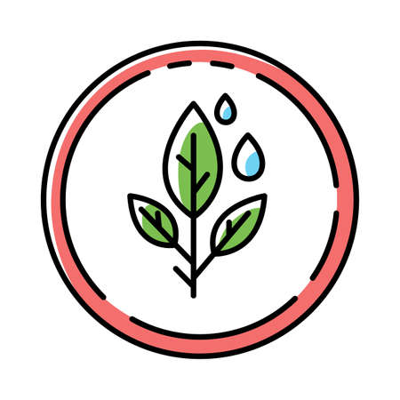 Paraben free color icon. Organic, non-toxic, non-chemical pharmaceutics. Natural hypoallergen cosmetics. Product free ingredient. Safe herbal medicine for sensitive skin. Isolated vector illustration Ilustrace