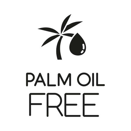 Palm oil free glyph icon. Organic food without saturated fats. Product free ingredient. Nutritious dietary, healthy eating habits. Silhouette symbol. Negative space. Vector isolated illustration Çizim