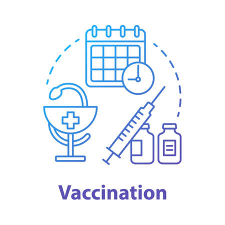 Vaccination blue concept icon. Safe sex. Medical injection. Pharmaceutical inoculation. Male, female healthcare idea thin line illustration. Vector isolated outline drawing. Editable stroke