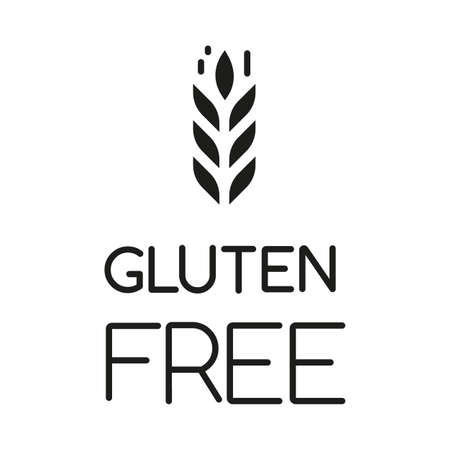 Gluten free glyph icon. Organic food. Product free ingredient. Healthy bread. Nutritious dietary, healthy eating. Celiac prevention. Silhouette symbol. Negative space. Vector isolated illustration