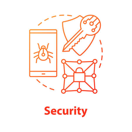 Security concept icon. Privacy protection idea thin line illustration. Confidential data encryption. Cybersecurity and safety. Digital authorization. Vector isolated outline drawing Stock fotó - 134470244