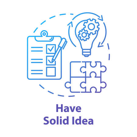 Have solid idea concept icon. Planning and management. Direct movement to goal. Process control. Business plan idea thin line illustration. Vector isolated outline drawing