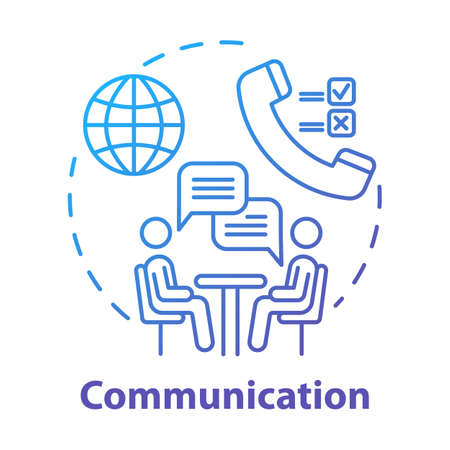 Communication concept icon. Dialogue. Professional conversation. Partnership meeting. Business negotiations idea thin line illustration. Vector isolated outline drawing