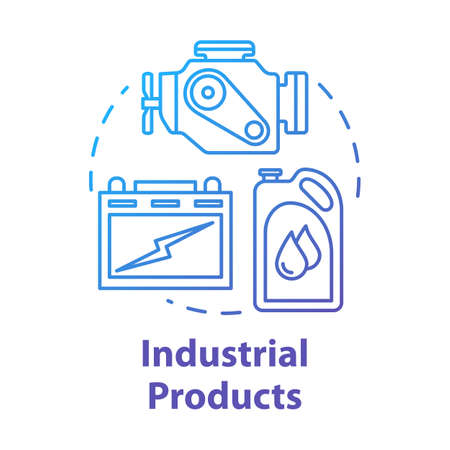 Industrial products concept icon. Production and maintenance of machinery. Maintenance workshop. Manufactured goods idea thin line illustration. Vector isolated outline drawing Stock fotó - 134837542