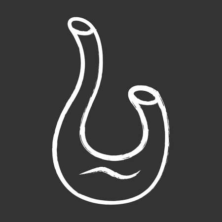Decorative swan decanter chalk icon. Wine service. Alcohol beverage. Aperitif drink. Bar, restaurant, winery. Glassware, tableware. Party drink. Isolated vector chalkboard illustration 向量圖像