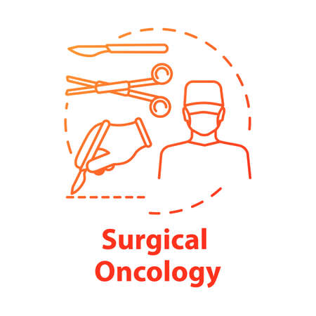 Surgical oncology concept icon. Surgery to remove tumor. Procedure for treatment. Operation room idea thin line illustration. Vector isolated outline RGB color drawing