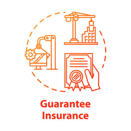 Guarantee insurance concept icon. Secure financial plan. Safety coverage for property. Business contract idea thin line illustration. Vector isolated outline RGB color drawing. Editable stroke