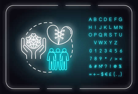 Dont forget friends neon light concept icon. Friendship advices. Being loyal and reliable idea. Outer glowing sign with alphabet, numbers and symbols. Vector isolated RGB color illustration
