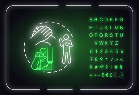 Be loyal neon light concept icon. Friendship advice. Being faithful and trustworthy friend idea. Outer glowing sign with alphabet, numbers and symbols. Vector isolated RGB color illustration