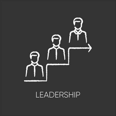 Leadership flat design long shadow glyph icon. Career development, success achievement. Professional growth. Corporate ladder, business job promotion. Silhouette RGB color illustration