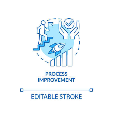 Creative process improvement concept icon. Design studio workflow optimization idea thin line illustration. Work quality enhancement. Vector isolated outline RGB color drawing. Editable stroke