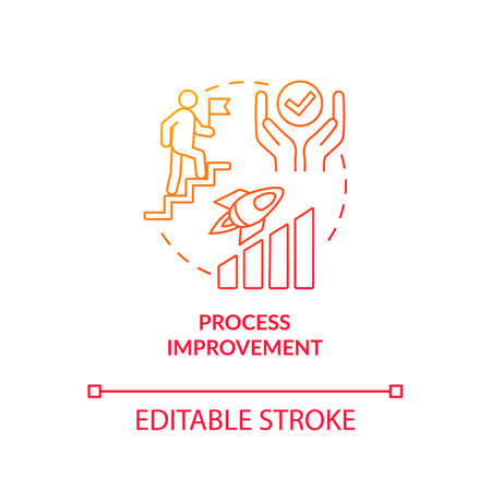 Design studio development, process improvement concept icon. Work result quality increase idea thin line illustration. Agency workflow optimization. Vector isolated outline RGB color drawing