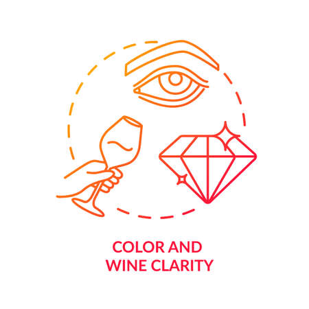 Color and wine clarity concept icon. Wine tasting, checking drinks appearance idea thin line illustration. Evaluating wine quality by look. Vector isolated outline RGB color drawing