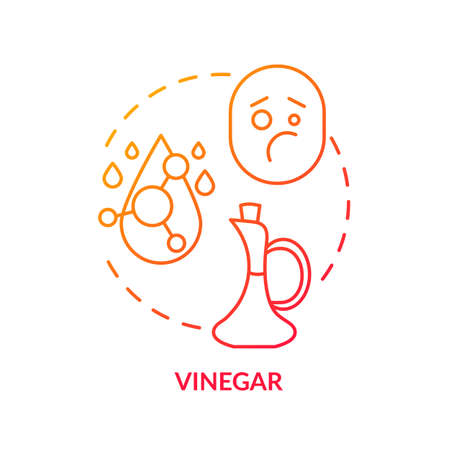 Vinegar concept icon. Spoiled wine sign, winetasting idea thin line illustration. Judging bad alcohol drink by strong acetic acid smell. Vector isolated outline RGB color drawing