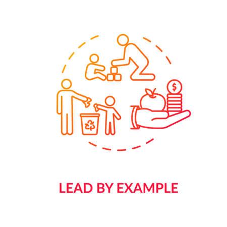 Lead by example concept icon Stock Illustratie
