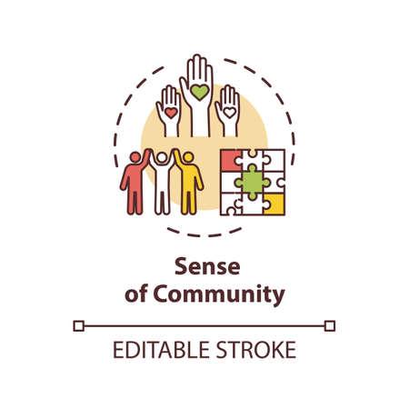 Sense of community concept icon