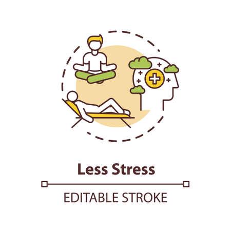 Less stress concept icon