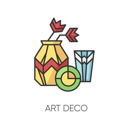 Art deco style RGB color icon Ilustración de vector